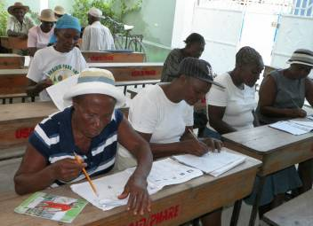 HelpAge ducation programme in Leogane, Haiti.