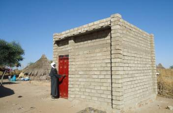 An example of a shelter we have built in Sudan