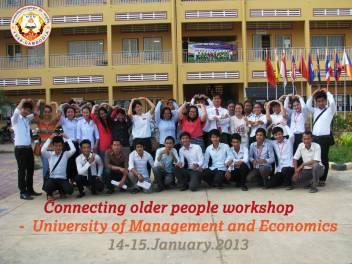 University students from University of Management & Economics in Banteay Meanchey attend workshops in January 2013