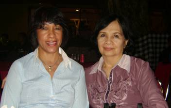 Dr Rosy Pereyra and Eva Sabdono at HLP meeting in Bali