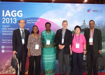 Me (second left) and HelpAge network colleagues at the IAGG conference in Seoul.