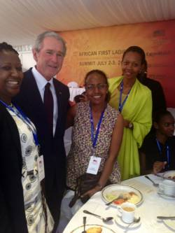 George W. Bush and I