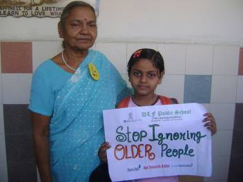 Older people campaign as part of Age Demands Action in India. (c) Tony Blair Faith Foundation