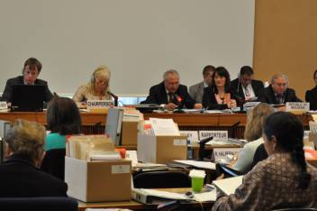 Human rights meeting in Geneva. (c) The Ministry of Social Protection, Family and Child of Moldova