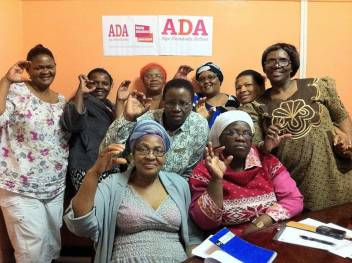 ADA campaigners in South Africa