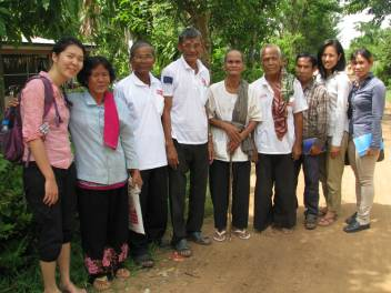Me and HelpAge staff in Cambodia.