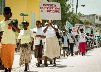 ADA campaigners in Haiti. (c) HelpAge International
