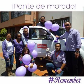 Our team in Colombia marking World Alzheimer's Day