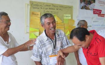 Our work has also included psychosocial support for older people left traumatised by Typhoon Haiyan. (c) Robyn Lacson