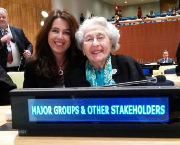 With Helen Hamlin at the UN.