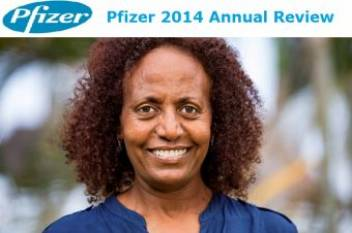 HelpAge Tanzania's Country Director, Amleset Tewodros, featured in Pfizer's 2014 Annual Review. (c) VClick Concepts