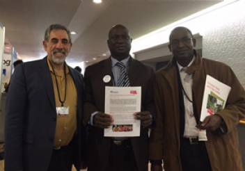 With the Senegalese delegation at Sendai. (c) HelpAge International