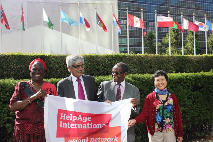 Esther, Khalid, Mwiche and Pham in New York (c) HelpAge International