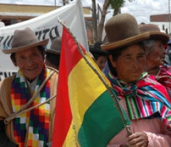 Older people in the highlands of Bolivia