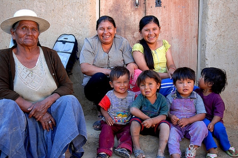 A family in Bolivia