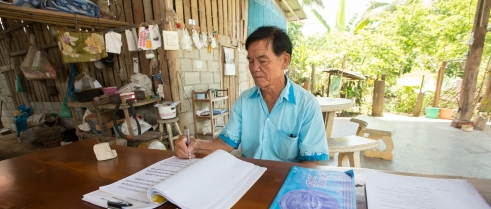 Boonpeng is devoted to his service