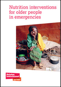 Nutrition interventions for older people in emergencies