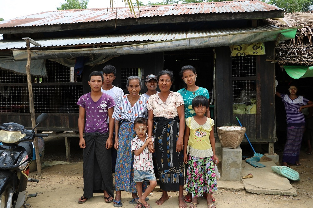 Daw Sein Ei in Myanmar is now able to support her family