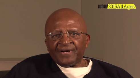 Desmond Tutu speaks in support of action/2015