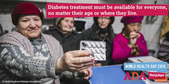 World Health Day Age Demands Action on Health focus on diabetes (c) Malik Alymkulov/HelpAge International