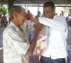 HelpAge has distributed items to older people affected by the Colombia floods
