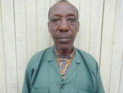 Edras, 62 is the president of the older people's association in Mugunga III camp.
