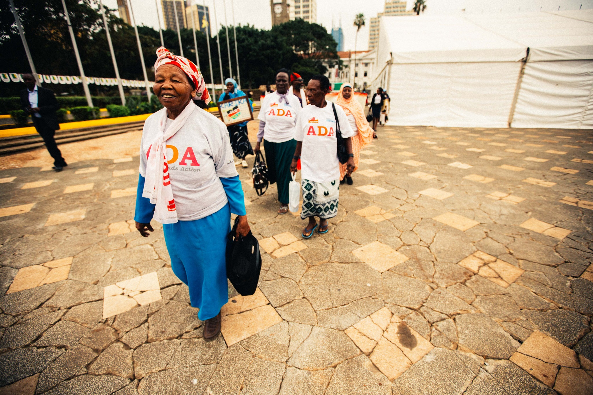 Esther Wamera and Rhoda Ngima Kariuki taking part in Age Demands Action for Rights 2014 (c) Pedro Ramirez HelpAge International