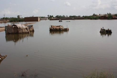 Flooding in Badin district