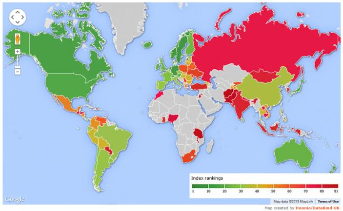 HelpAge International`s Global AgeWatch Index
