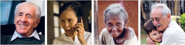 Images of older people. (c)Left-right: Jonas Wresch/HelpAge International; Hereward Holland/Age International; Steve Evans/Flickr, licensed under CC BY-NC 2.0 https://creativecommons.org/licenses/by-nc/2.0/;Thomás/Flickr, licensed under CC BY 2.0 https://creativecommons.org/licenses/by/2.0/