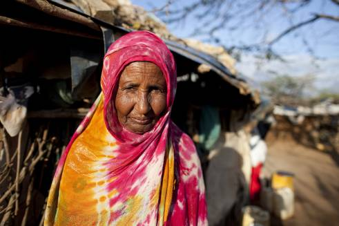 Habiba is about 70-years-old and lives in Dadaab refugee camp in Kenya.