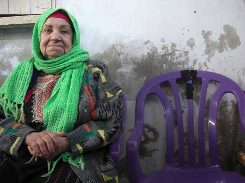 Hadija, 82, lives in Shatee camp in Gaza City.
