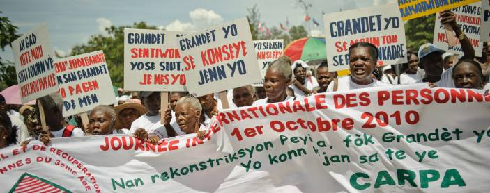 Age Demands Action campaigners in Haiti.