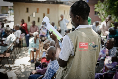 A doctor manages HelpAge's support to a care home in Haiti six months after the earthquake.