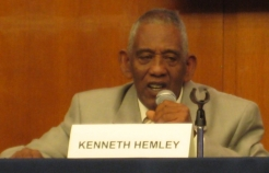 HelpAge activist, Kenneth Hemley, 71, spoke on a panel about his role as a campaigner for older people's rights