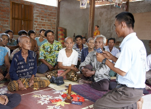 Older Cambodians at an HIV workshop