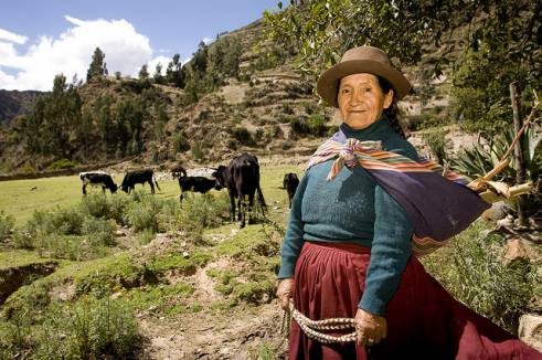 An older woman in Peru.