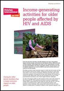 Income-generating activities for older people affected by HIV and AIDS