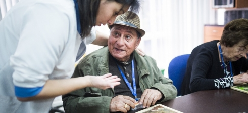 Joaquin, 80, visits a daycare centre in Colombia to help with his Alzheimer's