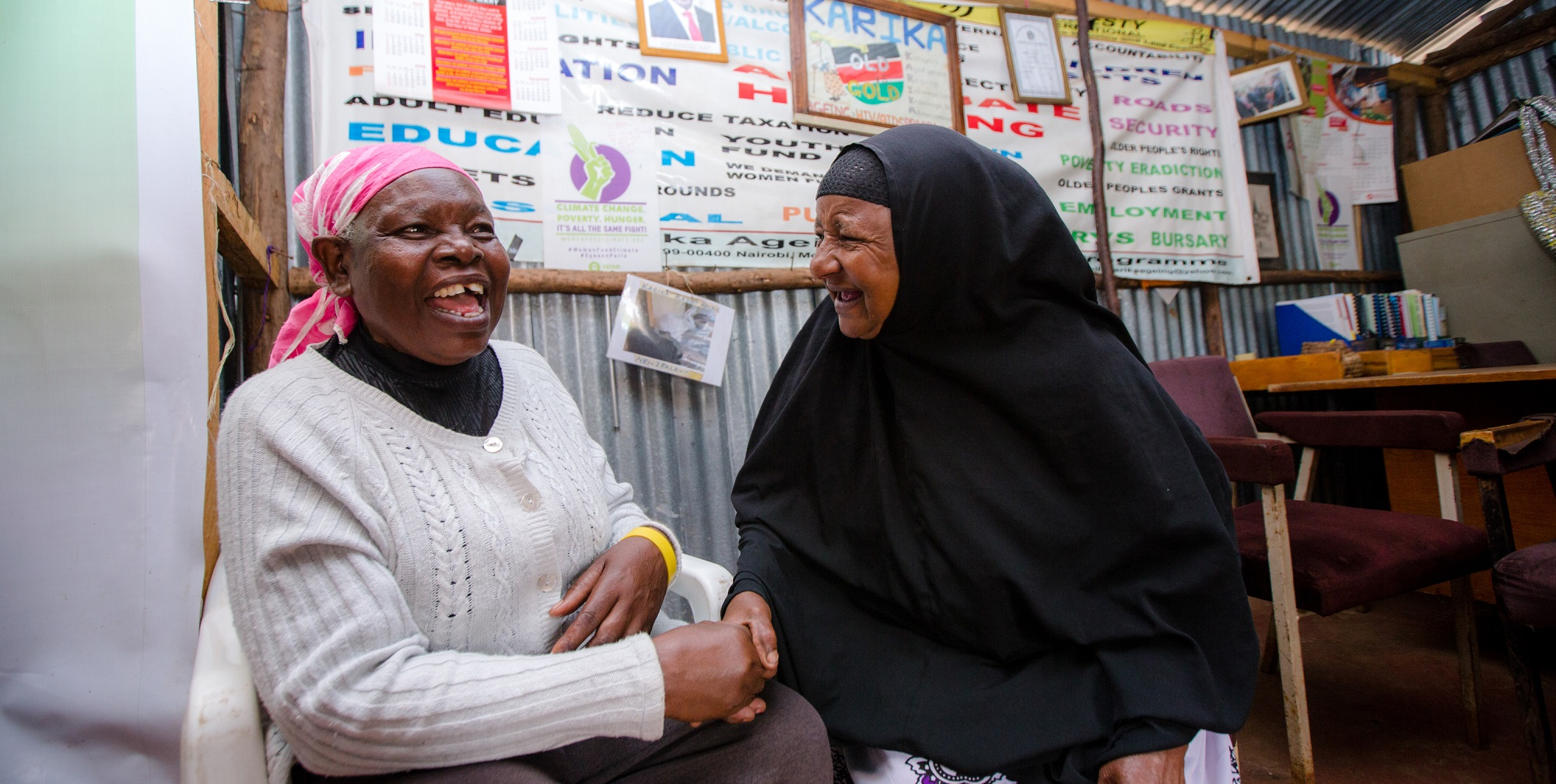 Gertrude and Zainab have both faced ageism where they live in Nairobi, Kenya (c) Mohamed Altoum/HelpAge International