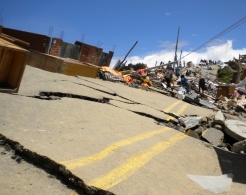 The mudslides have caused huge damage to the infrastructure in La Paz.