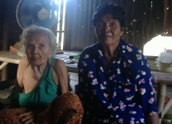Lek, 63, sews hats for a living and looks after her mother who is 93