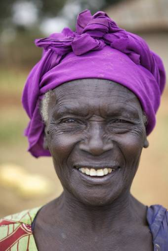 Mama Brigita, 64, from Kenya is part of a HelpAge project which provides goats to families.