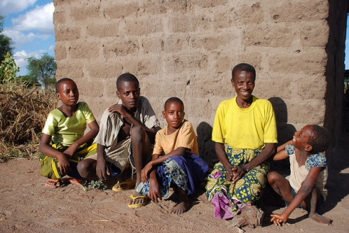 Mbuke from Tanzania with her grandchildren