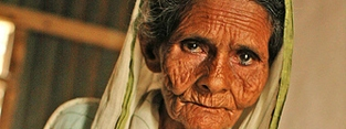 Meher, 95, from Bangladesh had no idea she was entitled to a pension.