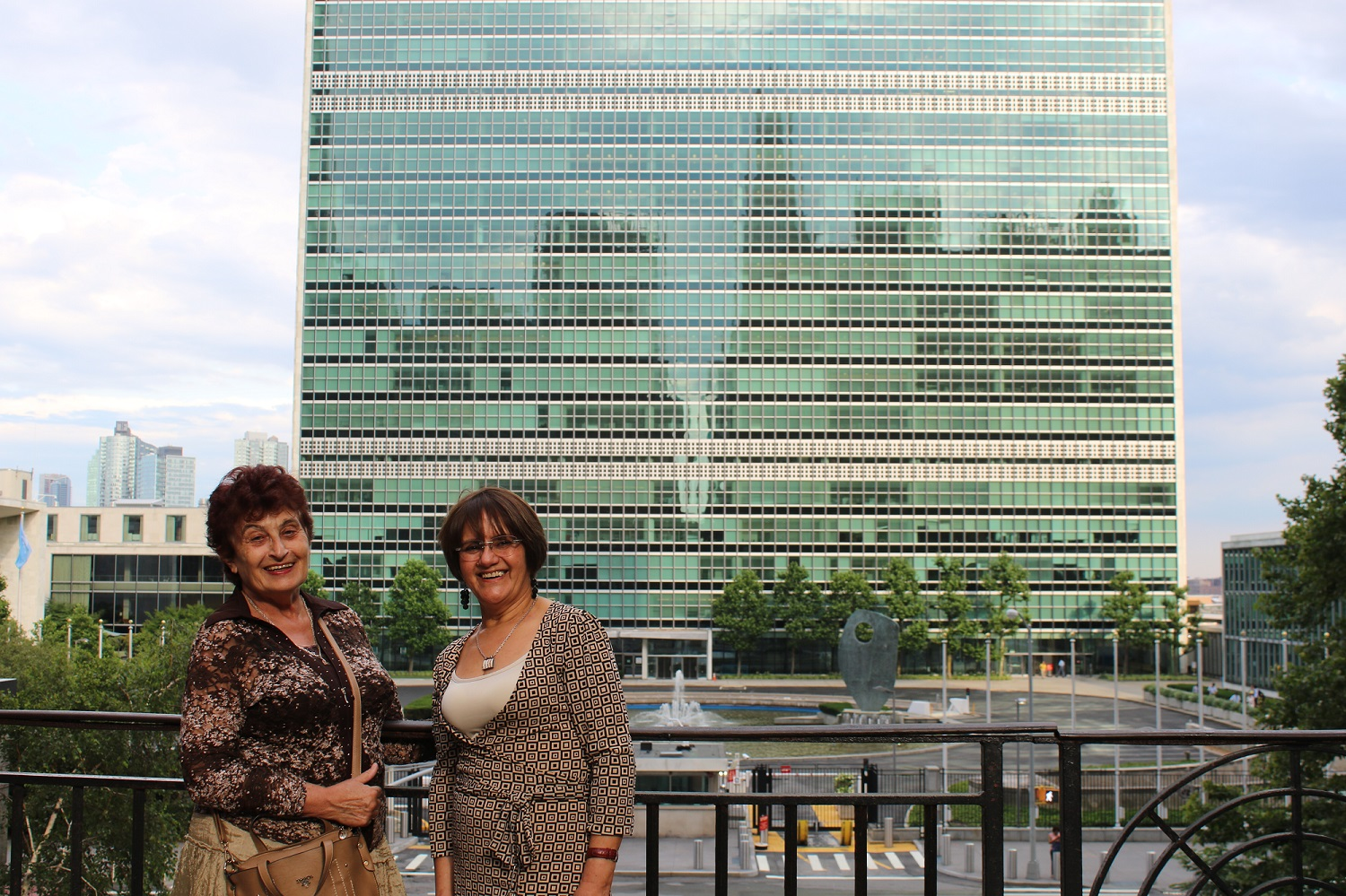 Ruth and Mira at the 2017 Open-ended Working Group at the UN in New York (c) Jemma Stovell/HelpAge International