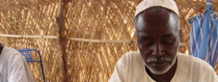 Mohamed, 60, from Darfur had to flee his home with his wife and ten children to escape the conflict.