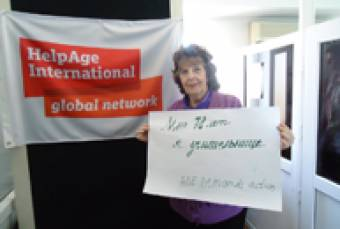 Natalia from Kyrgyzstan is fighting for older people's rights. (c) HelpAge Intrernational