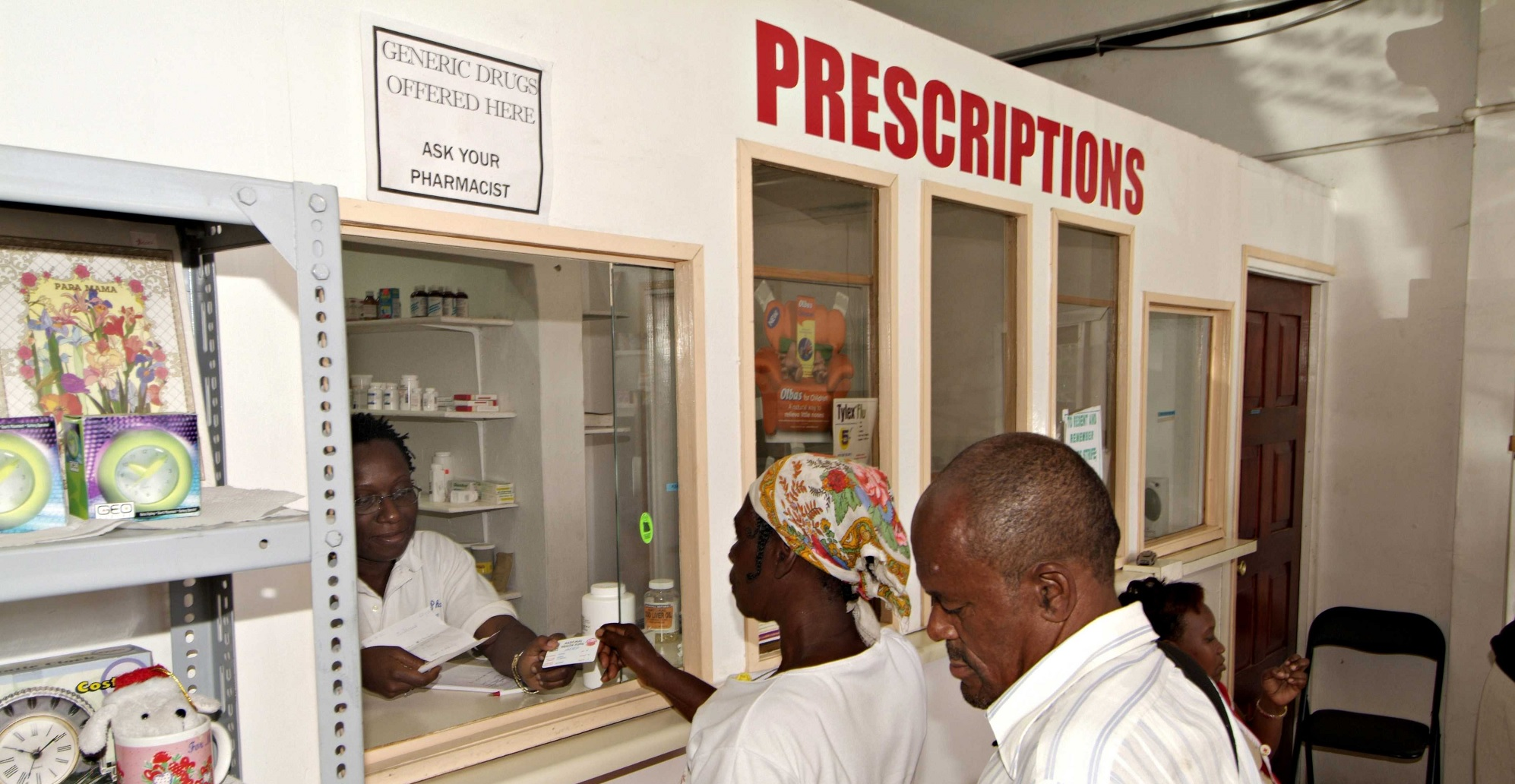 Older people in Jamaica are entitled to subsidised drugs for common age-related illnesses, but many pharmacies do not participate in the scheme (c) Neil Cooper/HelpAge International