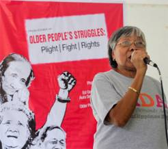Older campaigners in the Philippines raise awareness of the importance of a convention on older people's rights.